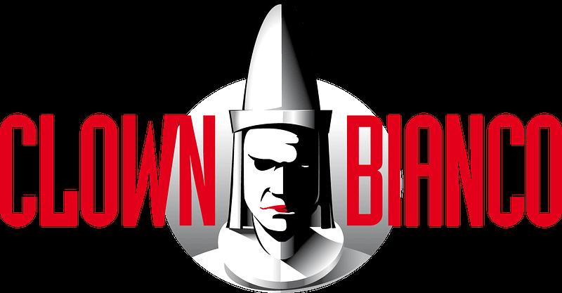 Clown Bianco logo grigio