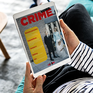 Crime Magazine su tablet